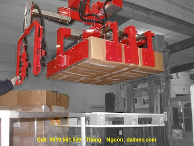 Cánh tay robot nâng thùng carton Dalmec Italy