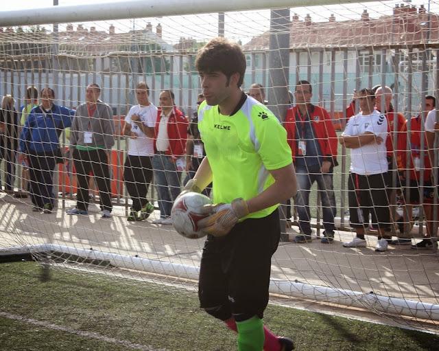 Eduardo Díez 'Toro', portero de la selección de Castilla y León./ FECLEDMI