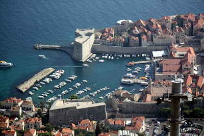 Dubrovnik harbor from above