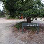 Day use parking area sign Saltwater Creek camping area (105946)