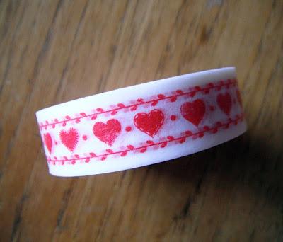 heart patterned washi tape