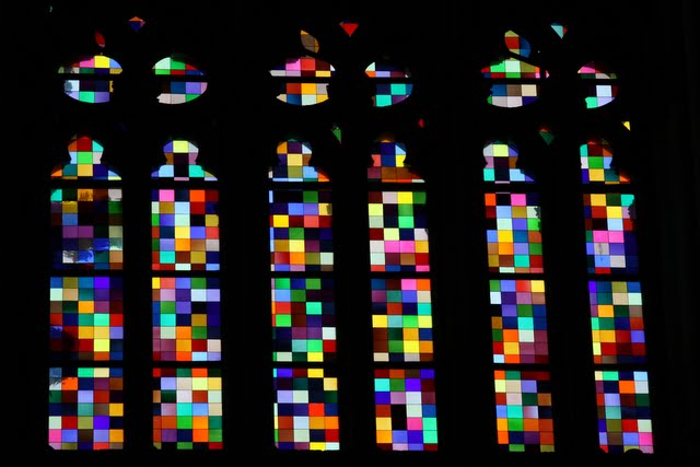 Stained glass window in Cologne Cathedral in Germany