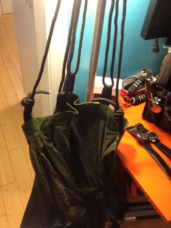 the 7 64 amsteel and the original rope that came with the hammock  jungle hammock amsteel conversion with pics   rh   hammockforums