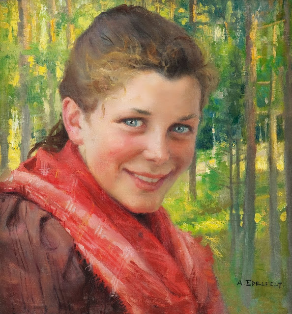 Albert Edelfelt - A Girl from Poorvo