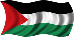 Palestina - bandeira para colorir