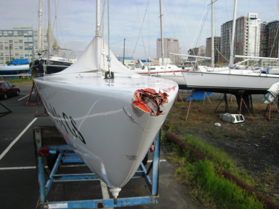 Barron's Marine Fiberglass Repair Before