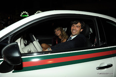 Fiat 500 and Luca Argentero and  Miriam Catania