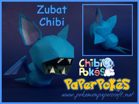 Pokemon Zubat Papercraft Chibi