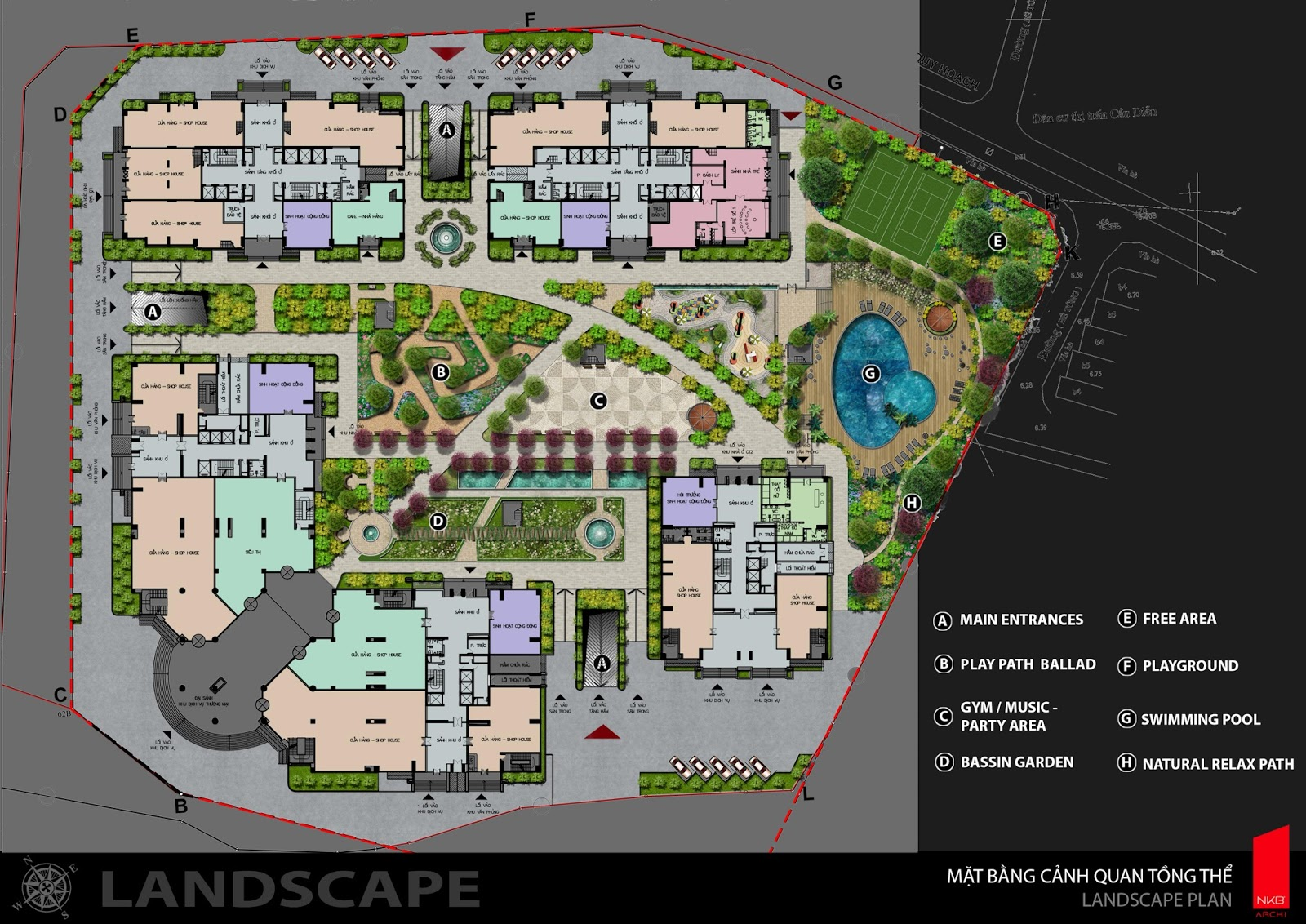 Phân khu dự án Iris Garden