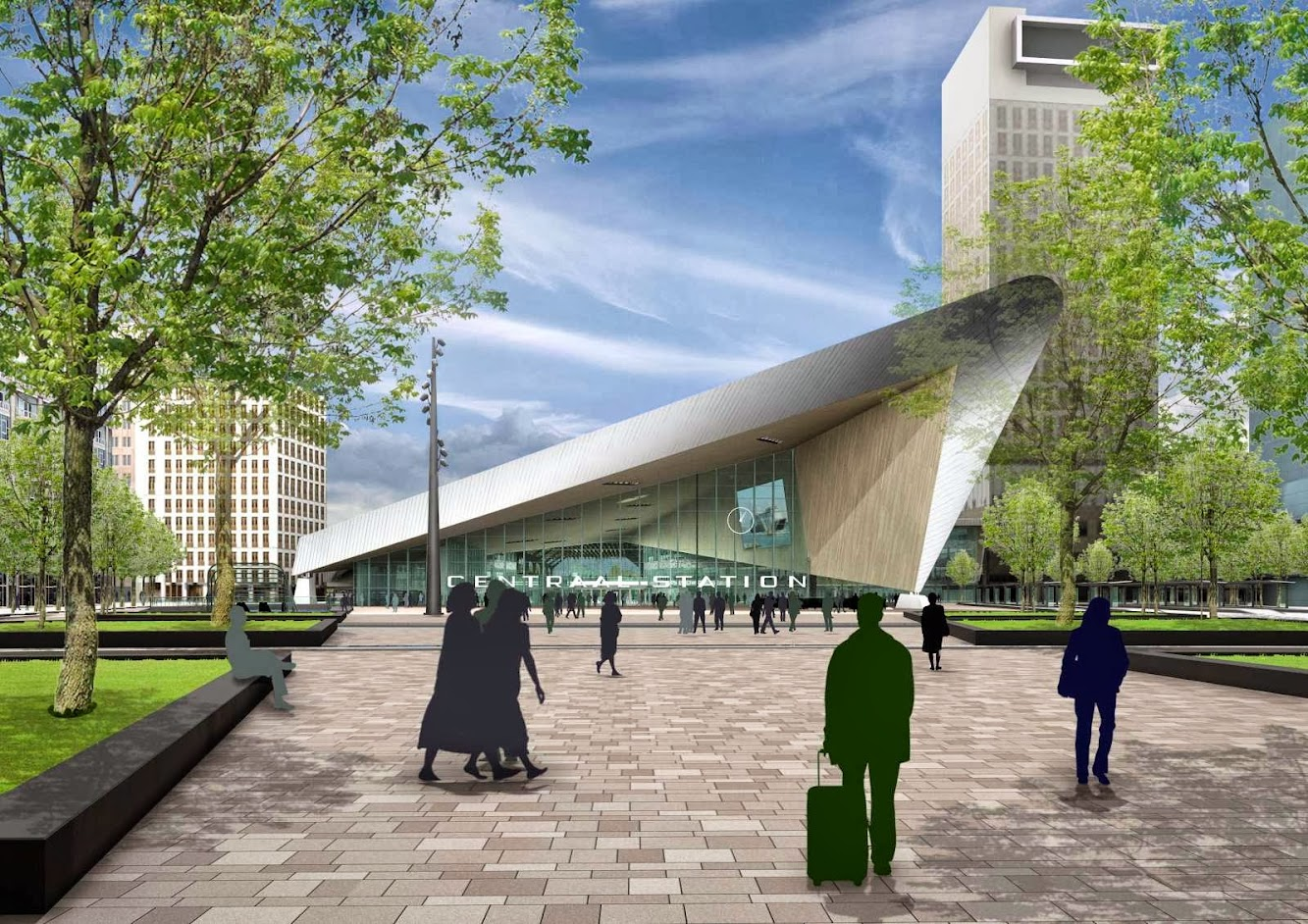 Rotterdam, Paesi Bassi: Rotterdam Central Station Opens in 2014