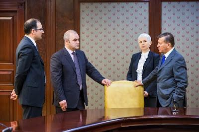 Viktor Zubkov, dyrektor Gazprom Gazomotornoe Toplivo, w czasie spotkania