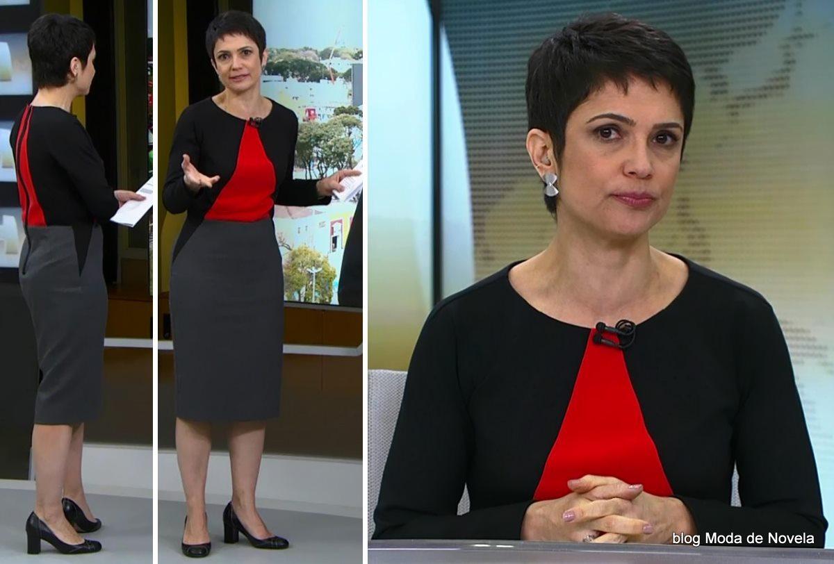 moda do programa Jornal Hoje - look da Sandra Annenberg dia 20 de junho