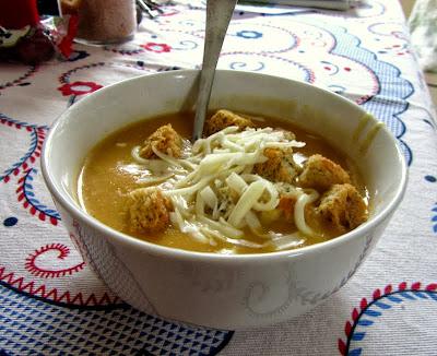 bowl of butternut squash soup