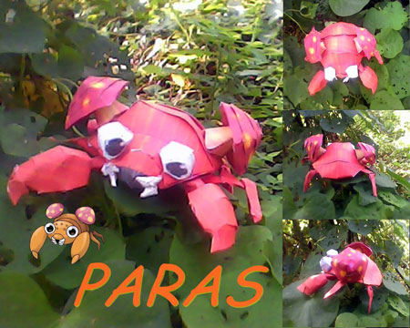 Pokemon Paras Papercraft