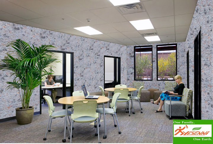 Your Office-Spacious office with wall clothes elegant, make it more perfect