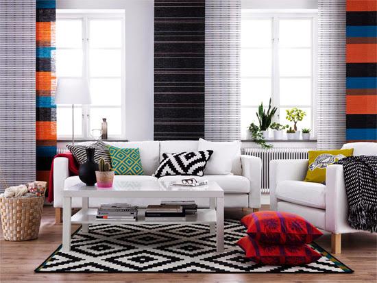 Tres ideas para decorar un mismo salón.
