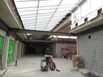 Atrium looking towards middle school entrance