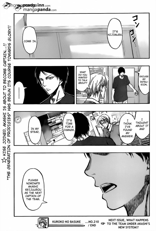 Kuroko no Basket Manga Chapter 210 - Image 19