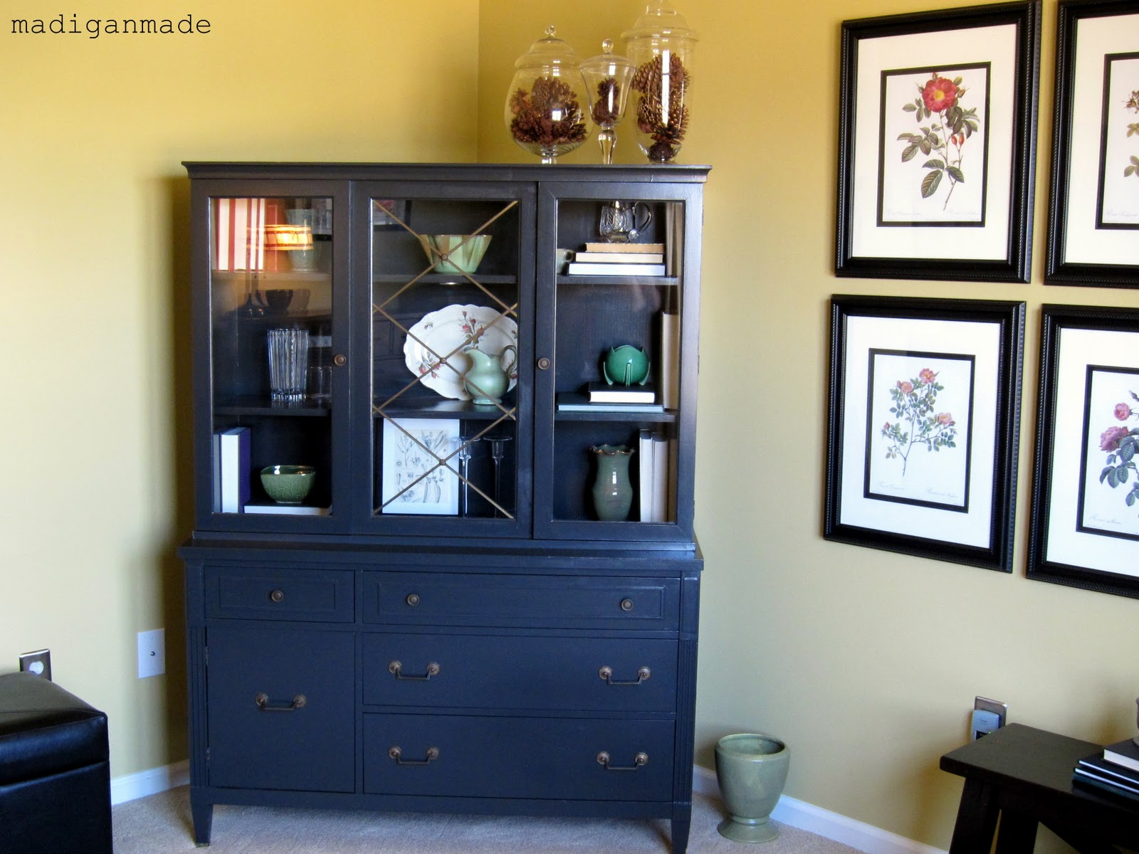 Re-styling my china-cabinet-posing-as-a-library-cabinet ...