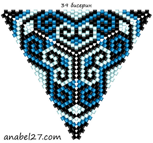 ����� ������������ �� ������ triangle peyote pattern