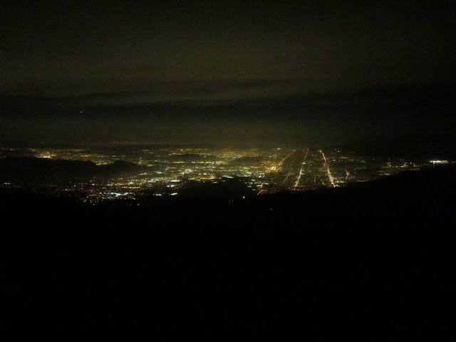 lights of the Inland Empire from Limber Pine Bench