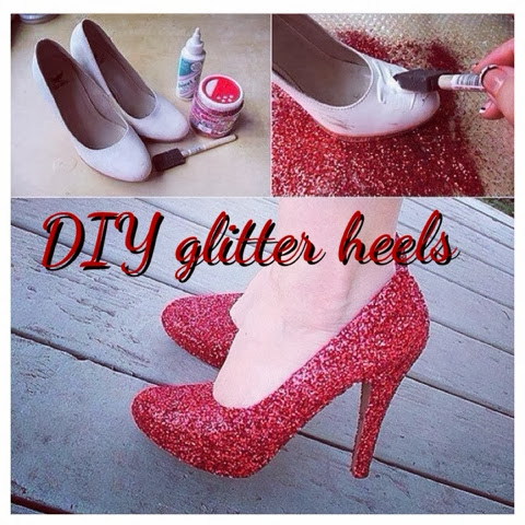 DIY Gilter Heels - How to transfor your shoes