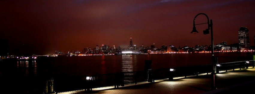Newyork skyline at night facebook cover