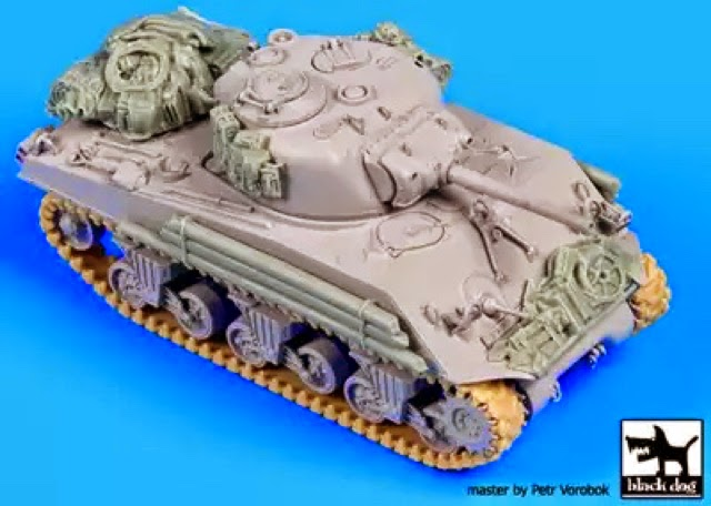 Simon's Tanks: Sherman M4A3 105mm with Resin Upgrades