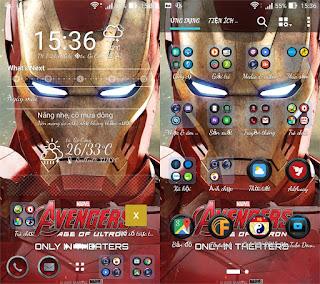 DESKTOP - Theme Iron Man Galaxy S6 Edge Full Apk For All