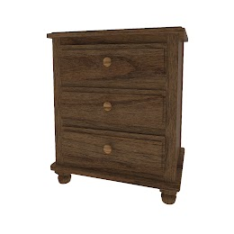 Lotus Nightstand with Drawers