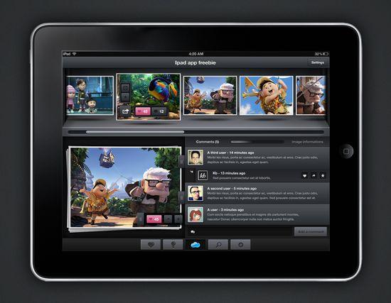 iPad Application UI Mockup 20 useful UI elements PSDs