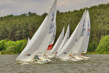 J/22 one-design sailboats- sailing Brombachsee, Netherlands
