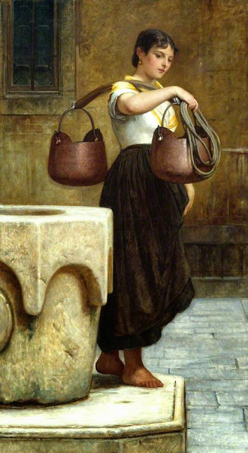 William Frederick Yeames - La Biccolante. A Venetian water-carrier