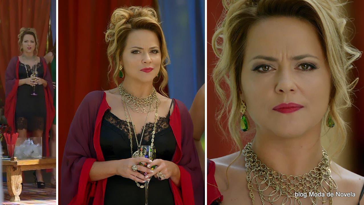 moda da novela Em Família - look da Shirley dia 8 de maio