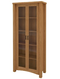 Maple Glass Door Bookshelves