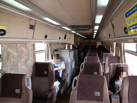 九州産交バス「やまびこ号」 3019 車内