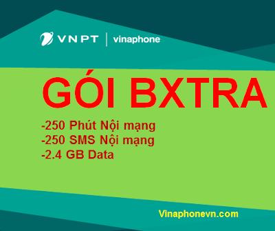 Miễn phí 250 phút gọi, 250 sms nội mạng, 2.4GB Data gói BXTRA Vinaphone siêu rẻ