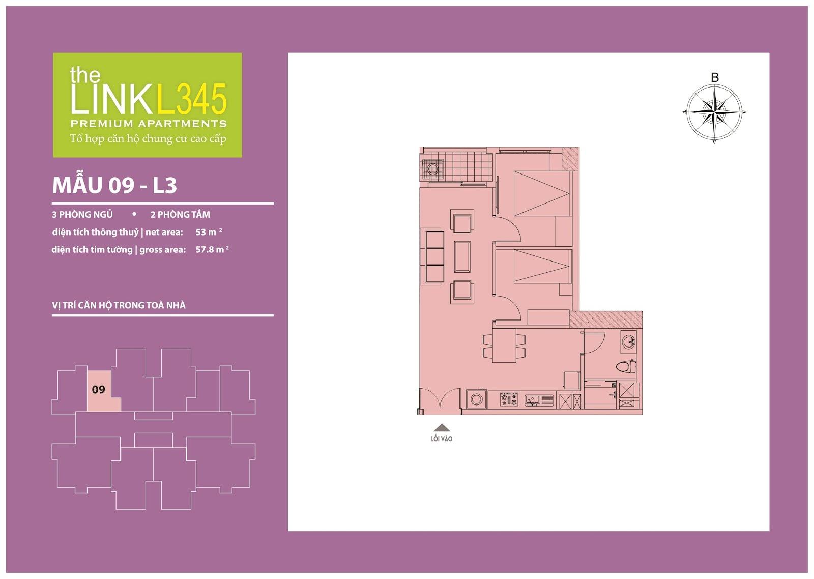 Mặt bằng chi tiết căn hộ 09 - L3