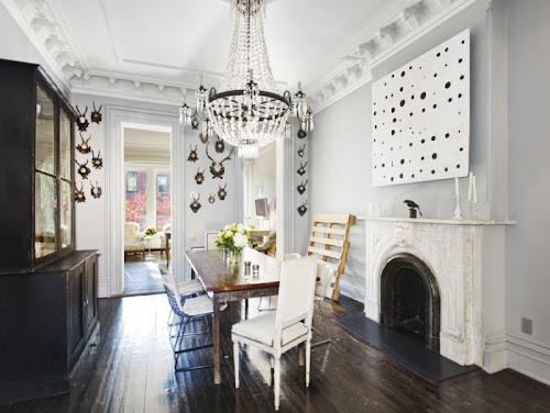jenna lyons home brooklyn townhouse interior design home decor dining room