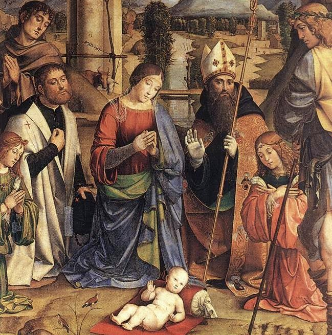 Francesco Francia - Adoration of the Child (detail)