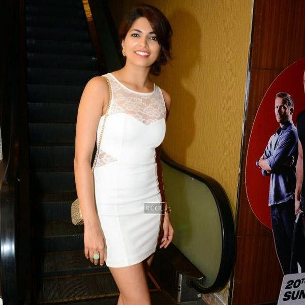 Parvathy Omanakuttan during the premiere of Bollywood movie Pizza, held at PVR in Mumbai, on July 21, 2014.(Pic: Viral Bhayani)
