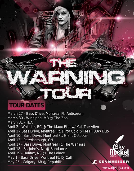 DJ VILIFY - Tour - The Warning Tour 2013