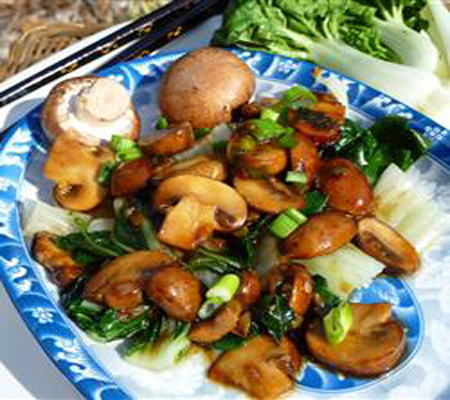 Chinese Style Baby Bok Choy with Mushroom Sauce Recipes