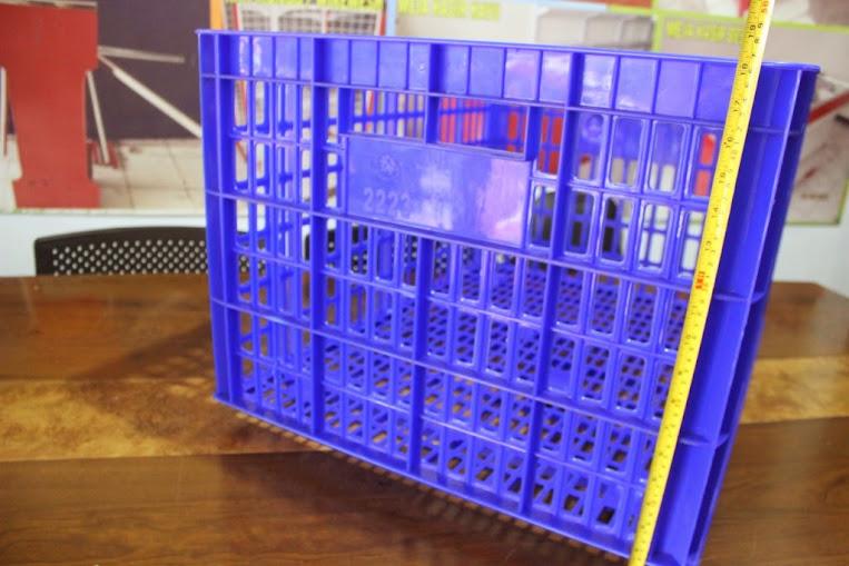 JUAL KERANJANG KONTAINER PLASTIK LOBANG TIPE 2223 L | www.rajarakminimarket.com | RAJA RAK INDONESIA | JAKARTA