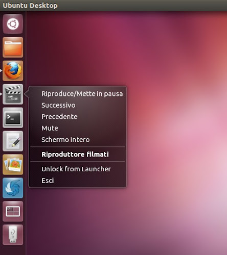 quicklist per Totem su Ubuntu 12.04