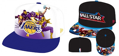 The Marvel x NBA Clothing Collection All Star Game 2010 New Era Fitted Hats