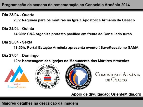 99 anos do Genocídio Armênio