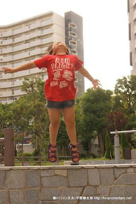 長女のジャンプ