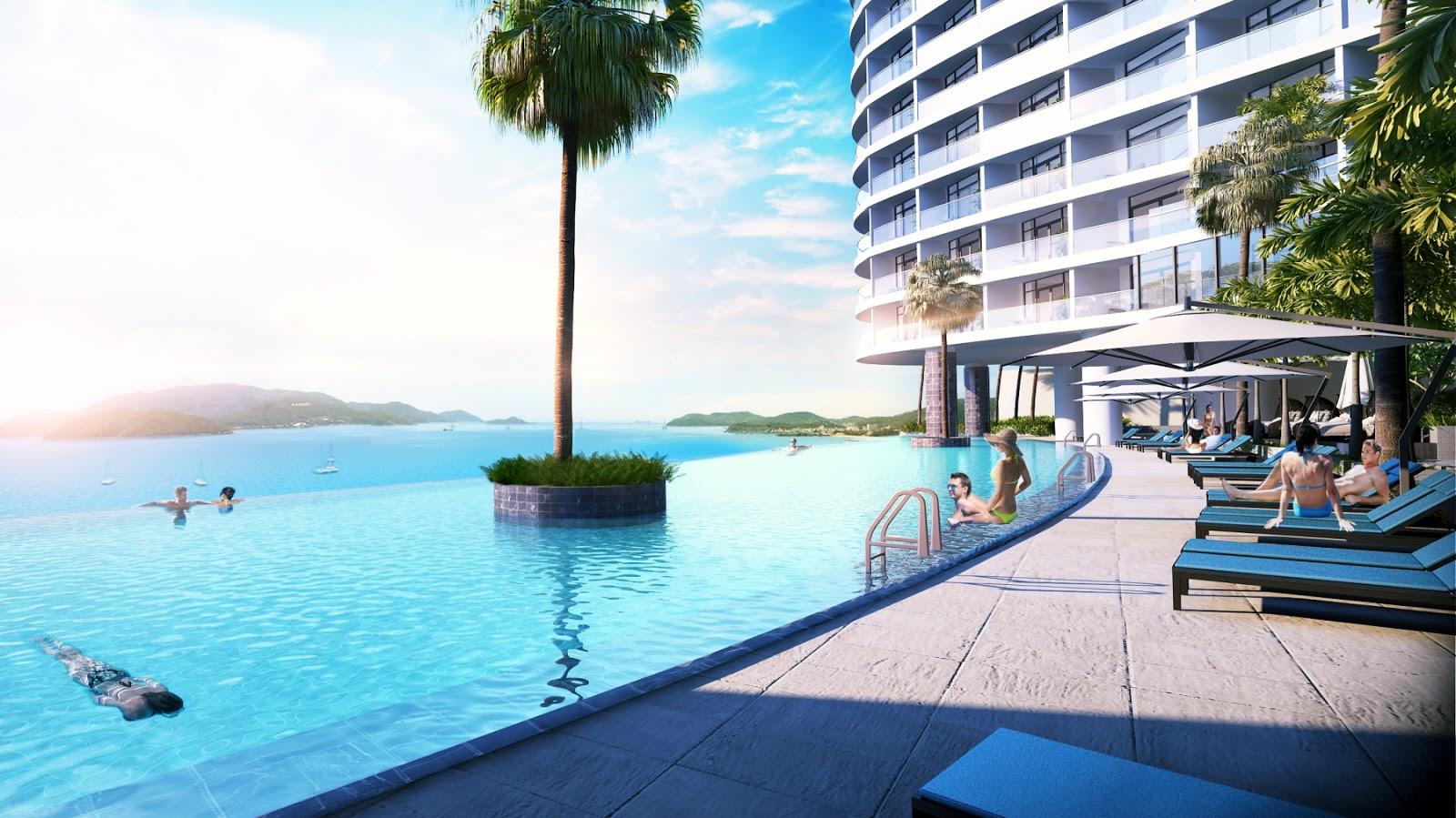 Bể bơi vô cực Beau Rivage Trần Phú