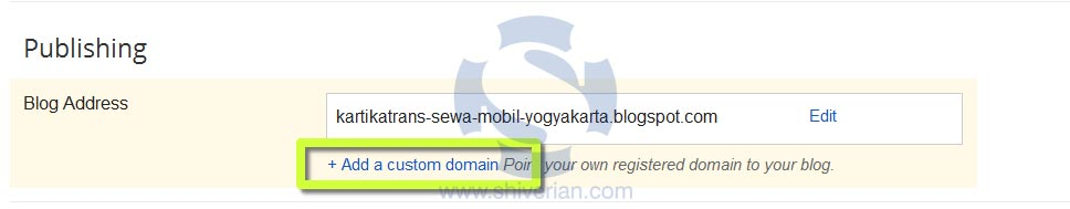 Setting Domain Intuit ke Blogger